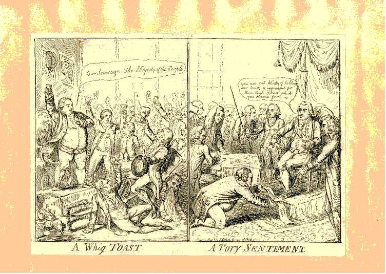 Satirical Picture of Whigs and Tories
