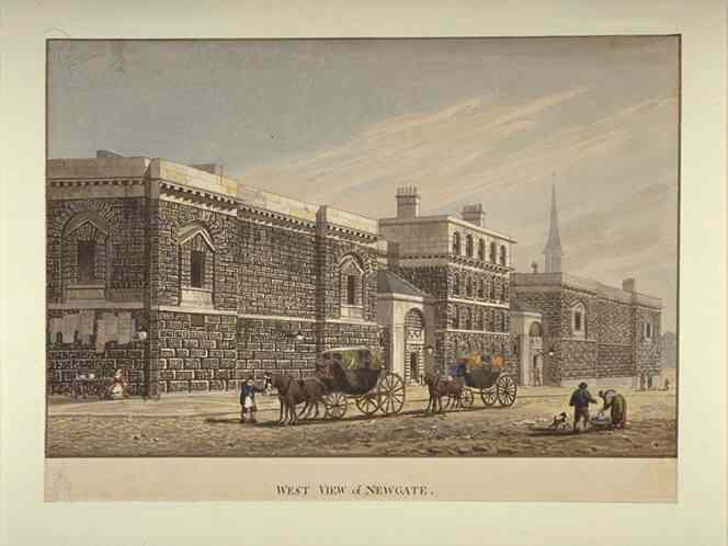 West View of Newgate by George Shepherd (1784-1862)