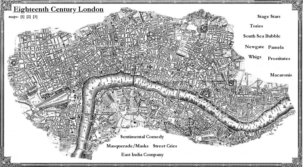 A map of London dating from the eighteenth century