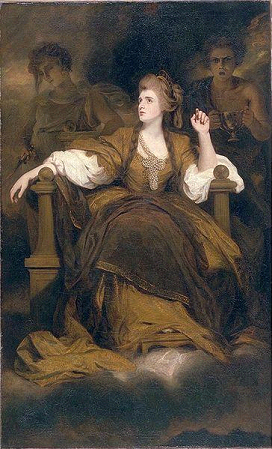 "Fig.5: Sarah Siddons as ""The Tragic Muse"" by Joshua Reynolds. 1783 (British Museum Collection online)"