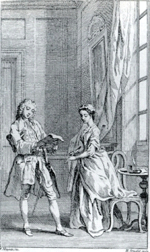 Hubert Gravelot. Original drawing for his engraving of Pamela's wedding in the octavo edition of Pamela, vol.2, 1742